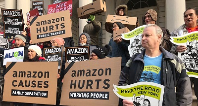 Amazon protestors from Athena (more details in story)