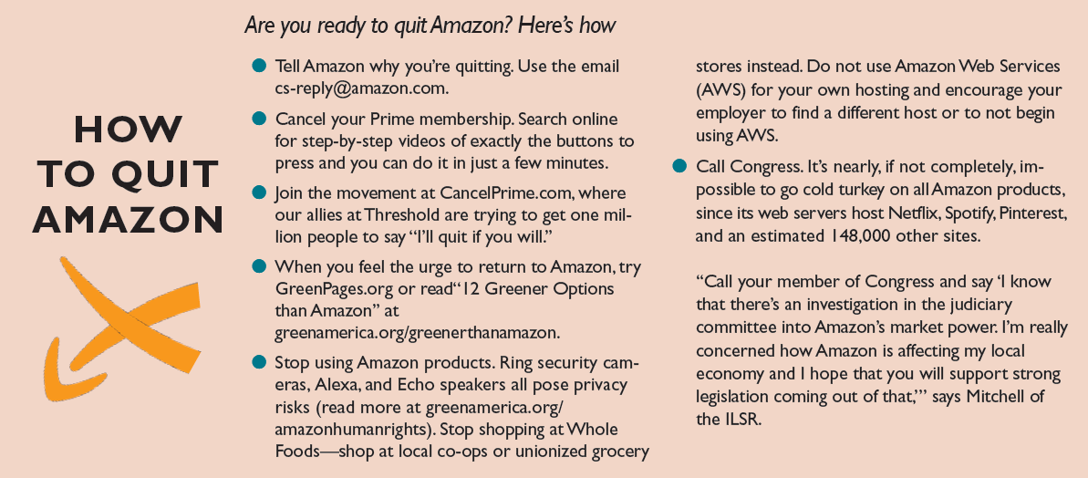 why to cancel amazon infographic