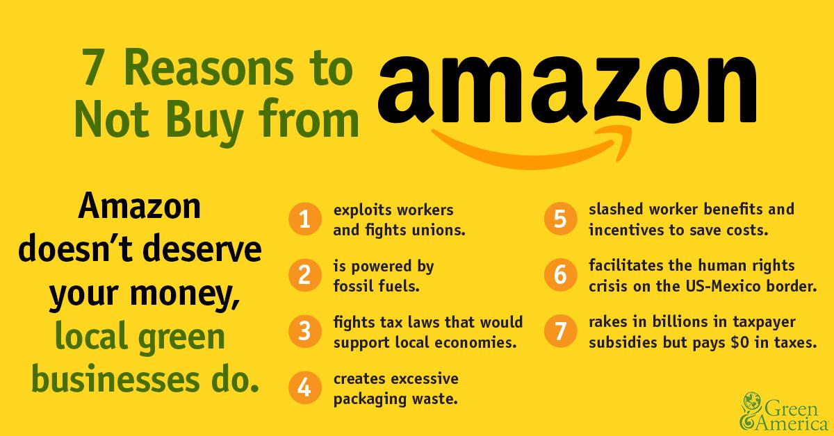10 Reasons to Avoid Amazon | Green America