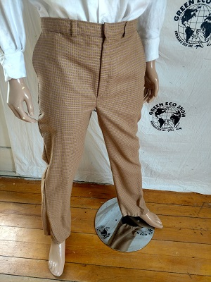 Brown pants on display