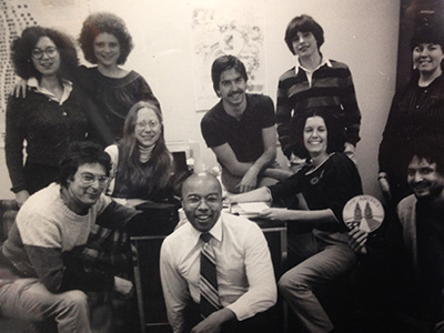 black and white photo of some of the first Green America staff members