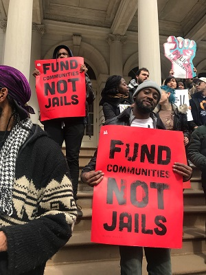 Activists with No New Jails Campaign