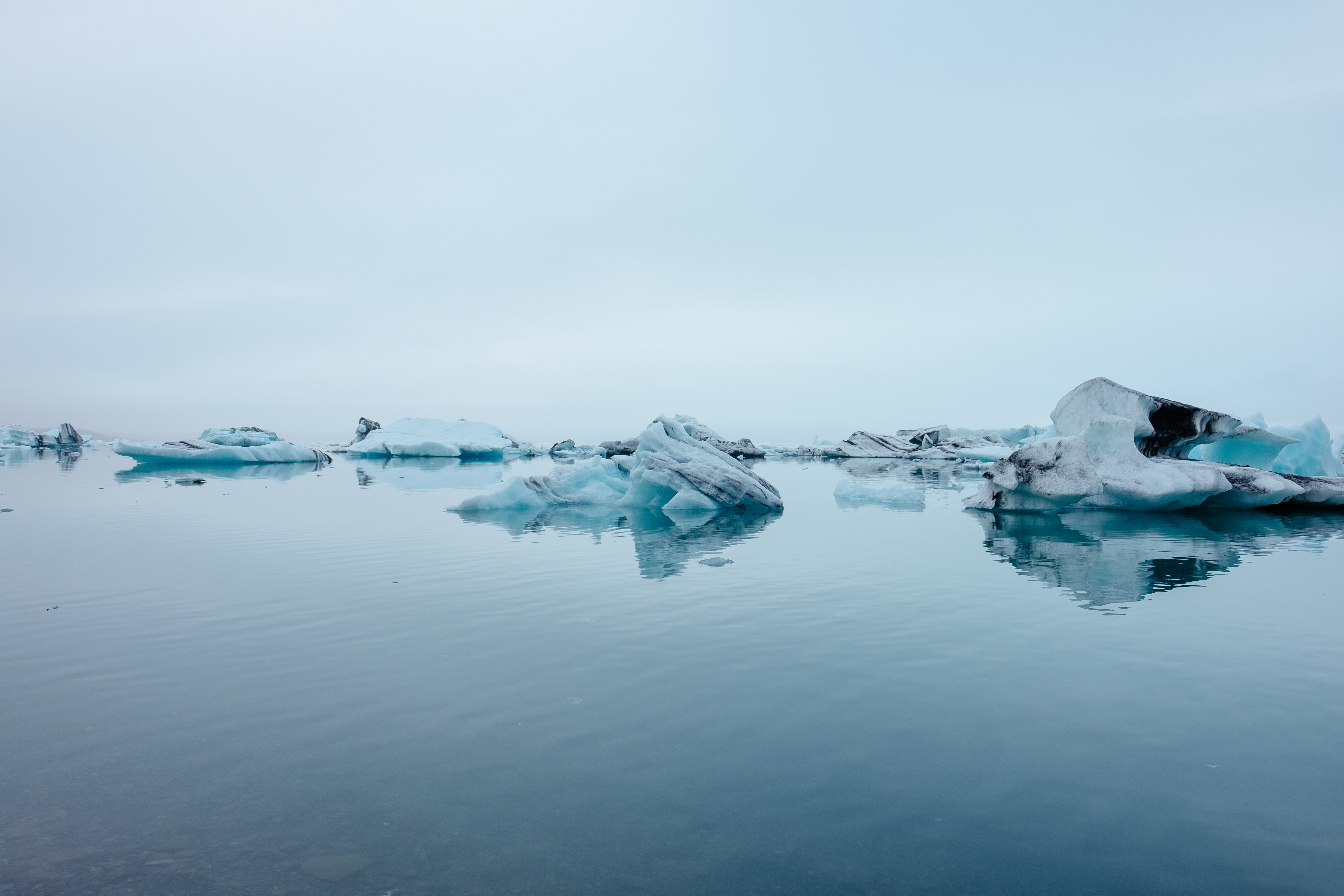 Image of icebergs