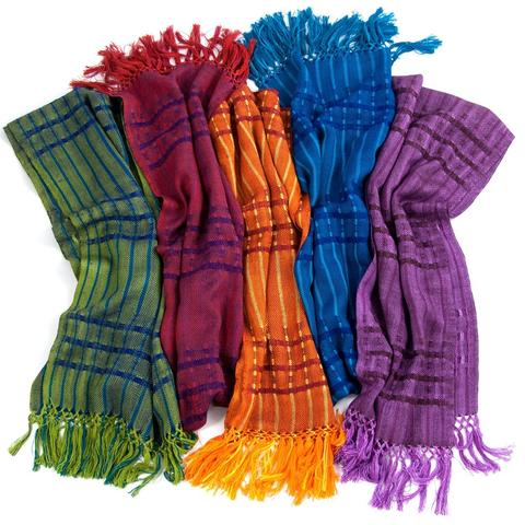 multiple colors of the Lucia scarf