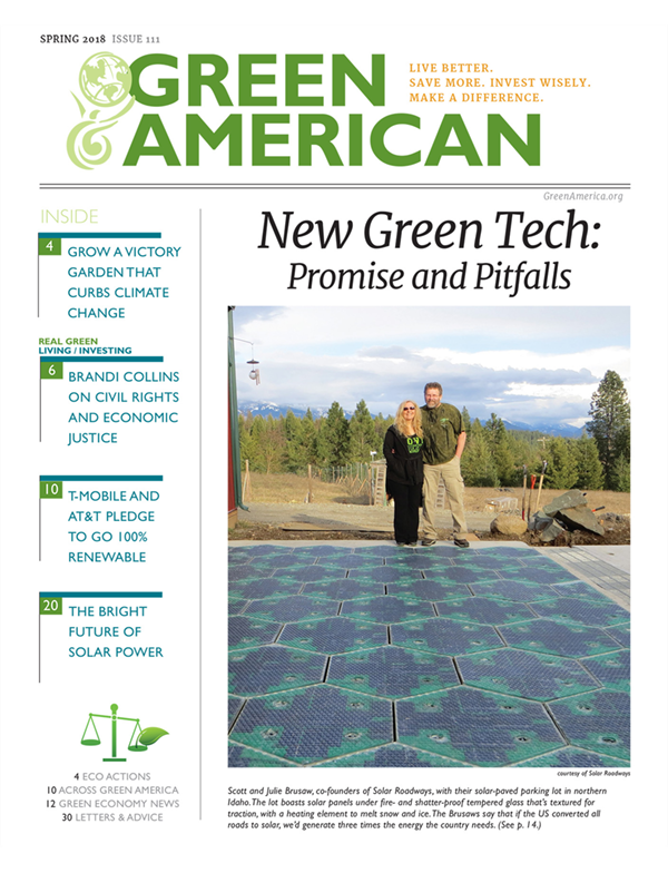 Green American magazine cover: Green Tech