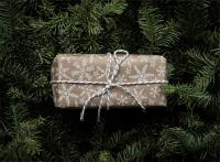 brown wrapped gift