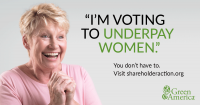 woman voting to underpay women