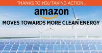 Amazon moves towards more clean energy