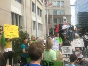 Protest Outside of FERC