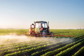 crop dusting with herbicides, pesticides