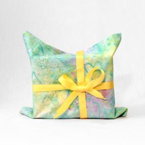 Enkiteng bag - cloth gift wrapping bag made of donated fabric - upcycled
