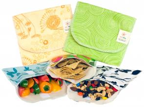 Organic Cotton Snack Bags: reduce - reuse - eat happy!