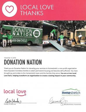 Donating our services to Homestretch, a non-profit that empowers families to attain permanent housing!