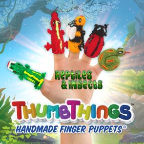Reptiles and Insects Finger Puppets