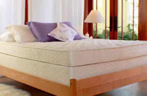 Non-toxic, solid wood bedroom furniture; organic mattresses and bedding
