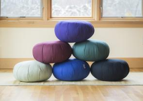 Zafu Meditation Cushions filled with Organic Kapok