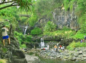 Access To The Pools At Oheo In Haleakala National Park