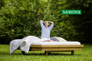 All natural, organic SAMINA is designed for your body and sleep.