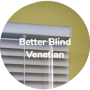 BetterBlinds; the words only uncoated mini blind option worldwide