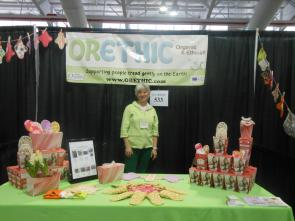 owner and booth at Green Festival New York