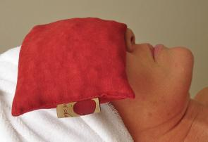 Hot Cherry Eye Pillows, Relax Eyes, Use Hot , Cold or Room Temperature, Spa Product Line Available