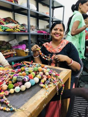 Artisan beading WorldFinds Kantha Jewelry