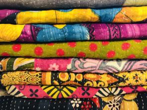 Sari Textiles are the base of WorldFinds Kantha and Sari Jewelry and Accessories.