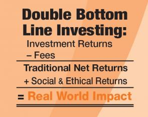 Double Bottom Line Investing. Financial Returns + Social Returns  = Real World Impact