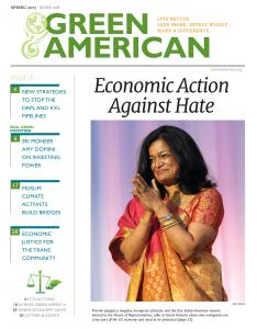 Green American cover with Pramila Jayapal