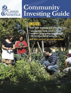 Community Investing Guide, March 2011 cover image