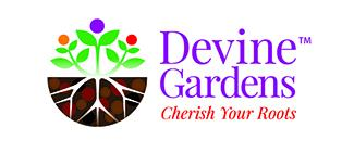 Devine Gardens logo Cherish Your Roots