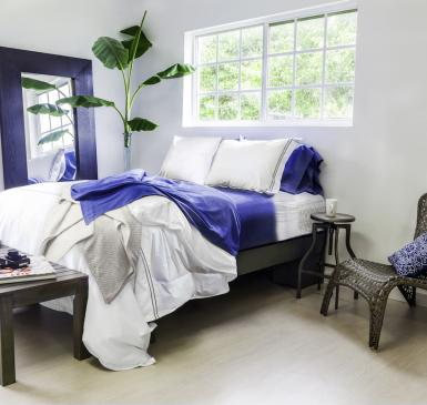 Living Fresh offers soft, dust-resistant, nontoxic sheets made from rapidly renewable eucalyptus from sustainably managed forests.