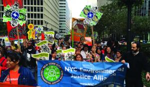 The New York City Environmental Justice Alliance (NYC-EJA) works to reform the city's garbage and recycling sector, which disproportionately impacts Southeast Queens, South Bronx, and North Brooklyn.