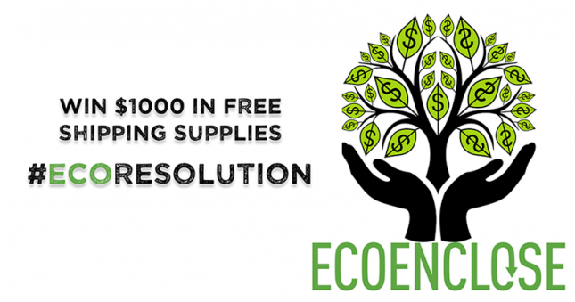 Win $1000 in Free Shipping Supplies #EcoResolution