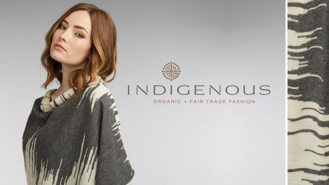 """INDIGENOUS: Fair Trade Fashion"" banner"