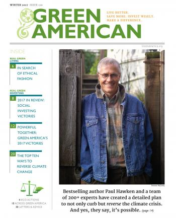 cover of issue with Paul Hawken